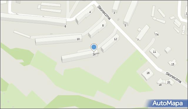 Gorlice, Słoneczna, 14, mapa Gorlic