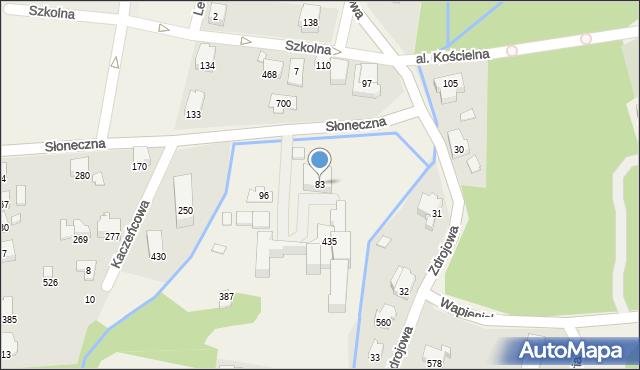 Jaworze, Słoneczna, 83, mapa Jaworze