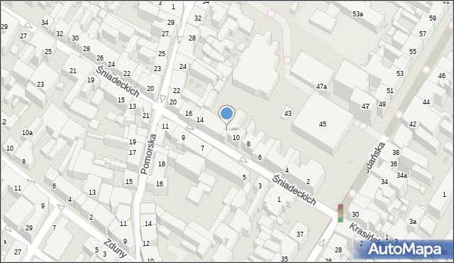 Bydgoszcz, Śniadeckich Jana i Jędrzeja, 12, mapa Bydgoszczy