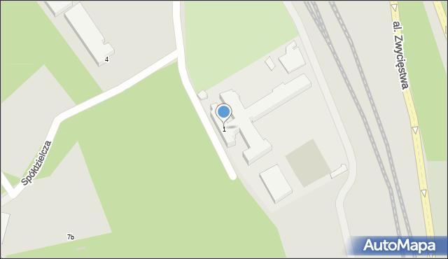 Gdynia, Spółdzielcza, 1, mapa Gdyni