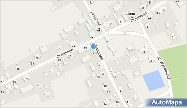 Lubno, Sportowa, 2, mapa Lubno