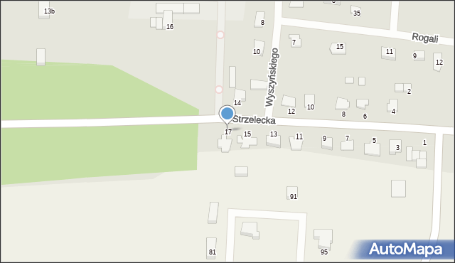 Kamień Krajeński, Strzelecka, 17, mapa Kamień Krajeński