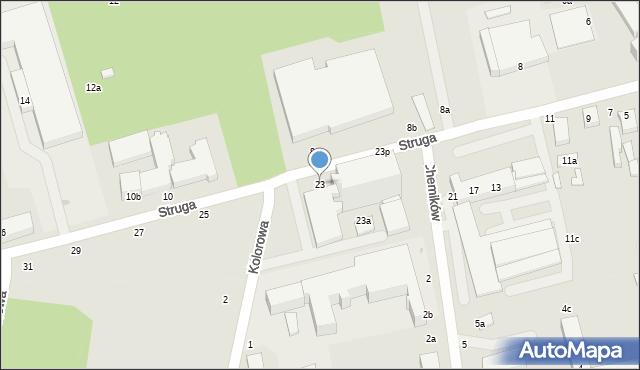 Zgierz, Struga Andrzeja, 23, mapa Zgierz