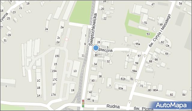 Bytom, Świętochłowicka, 30, mapa Bytomia