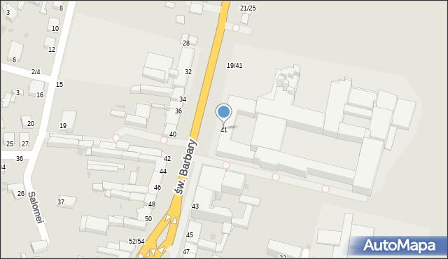 Częstochowa, św. Barbary, 41, mapa Częstochowy