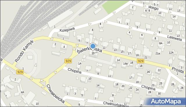 Rybnik, Świerklańska, 10, mapa Rybnika