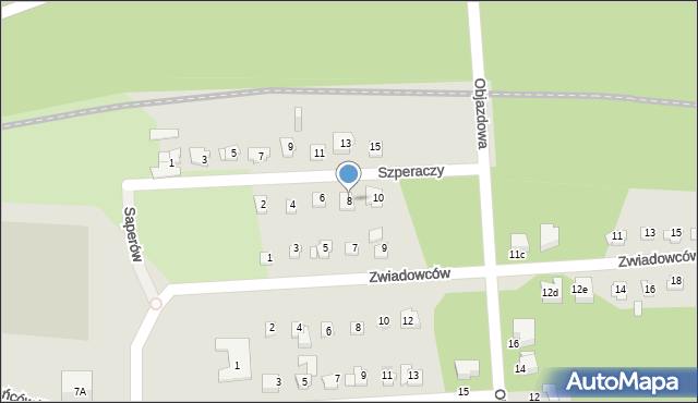 Sosnowiec, Szperaczy, 8, mapa Sosnowca