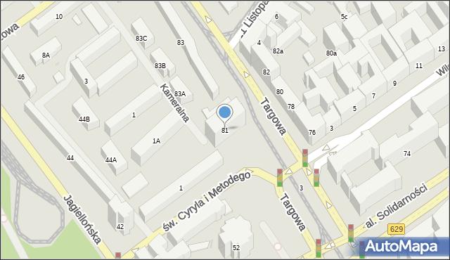 Warszawa, Targowa, 81, mapa Warszawy