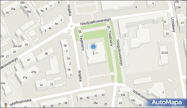 Szczecin, Teatralny, 1, mapa Szczecina
