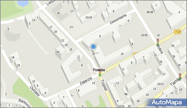 Warszawa, Topiel, 12, mapa Warszawy