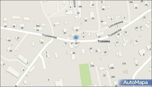 Szczecinek, Trzesiecka, 45, mapa Szczecinek