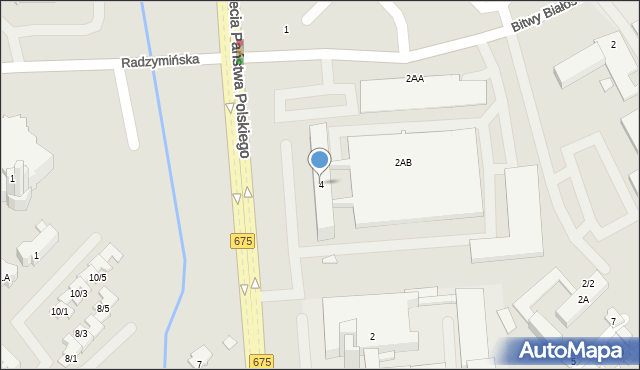 Białystok, Tysiąclecia Państwa Polskiego, al., 4, mapa Białegostoku