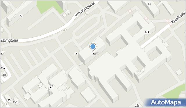 Białystok, Waszyngtona Jerzego, 15A, mapa Białegostoku