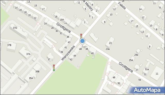 Gliwice, Warszawska, 50, mapa Gliwic