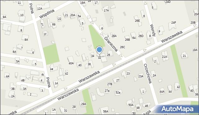 Granica, Warszawska, 32, mapa Granica