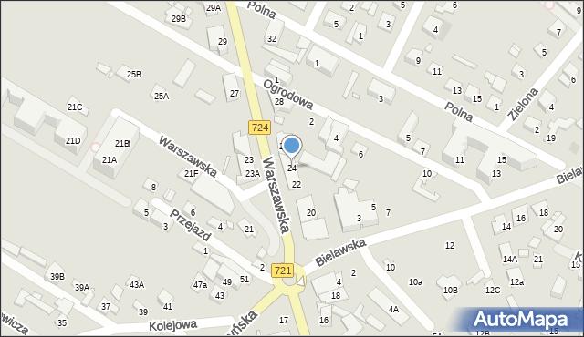 Konstancin-Jeziorna, Warszawska, 24, mapa Konstancin-Jeziorna