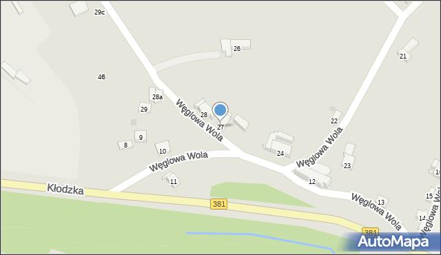 Nowa Ruda, Węglowa Wola, 27, mapa Nowa Ruda