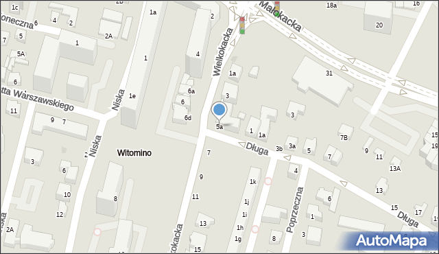Gdynia, Wielkokacka, 5a, mapa Gdyni