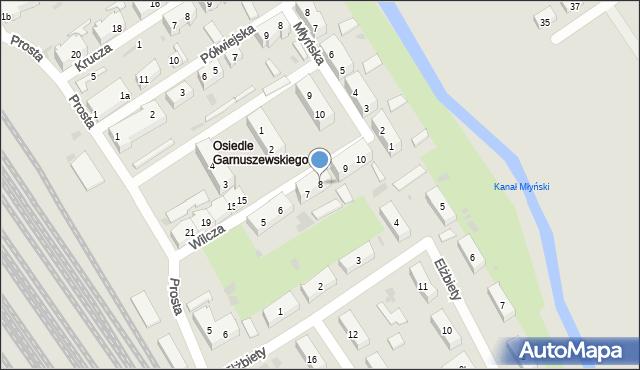 Tczew, Wilcza, 8, mapa Tczew