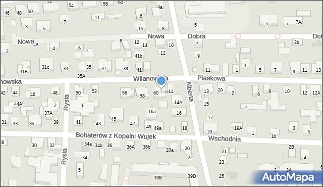 Warszawa, Wilanowska, 62, mapa Warszawy