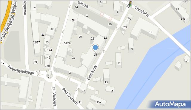 Gdańsk, Żabi Kruk, 14, mapa Gdańska