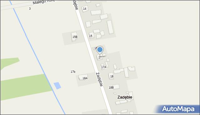 Zadębie, Zadębie, 17, mapa Zadębie