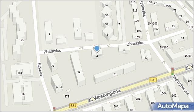 Warszawa, Zbaraska, 4, mapa Warszawy