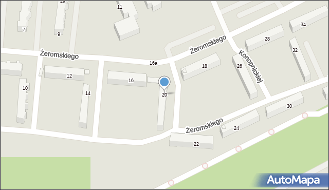 Golub-Dobrzyń, Żeromskiego Stefana, 20, mapa Golub-Dobrzyń
