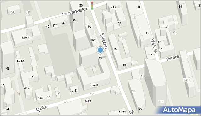 Warszawa, Żelazna, 59, mapa Warszawy