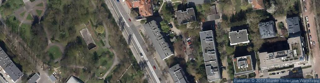 Zdjęcie satelitarne Belwederska ul.