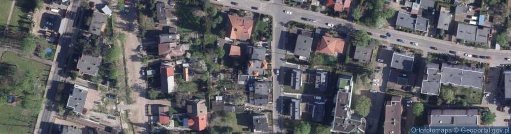 Zdjęcie satelitarne Borowiacka ul.