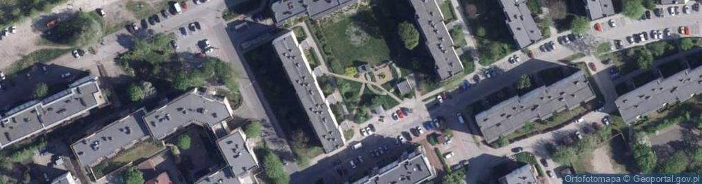 Zdjęcie satelitarne Harcerska 1d