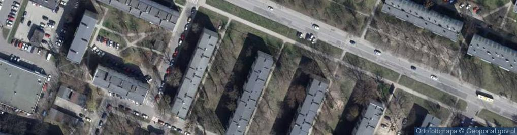 Zdjęcie satelitarne Lutomierska ul.