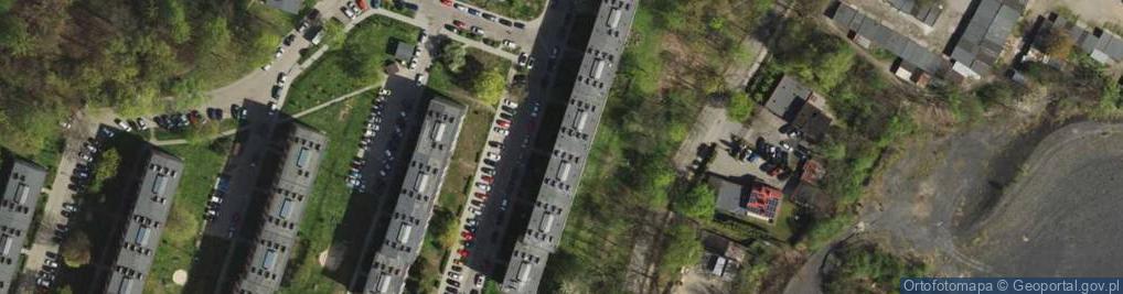 Zdjęcie satelitarne Orzegowska 52