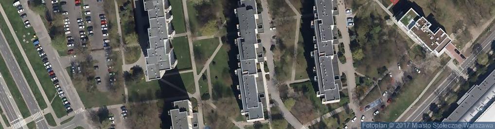 Zdjęcie satelitarne Potocka ul.