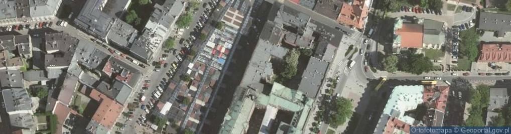 Zdjęcie satelitarne Rynek Kleparski ul.
