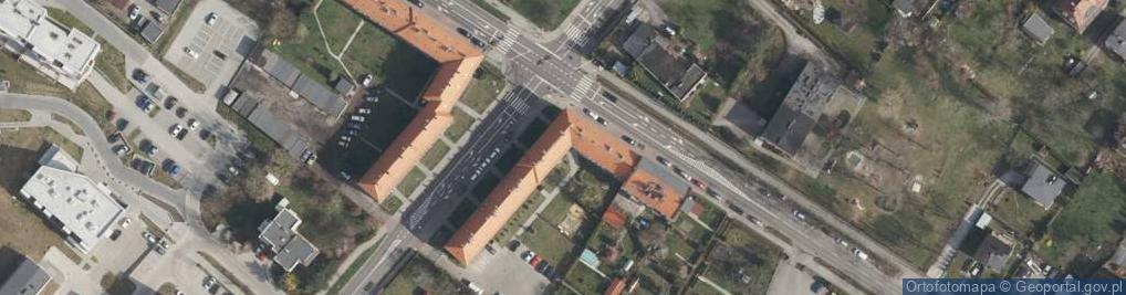 Zdjęcie satelitarne Warszawska 50