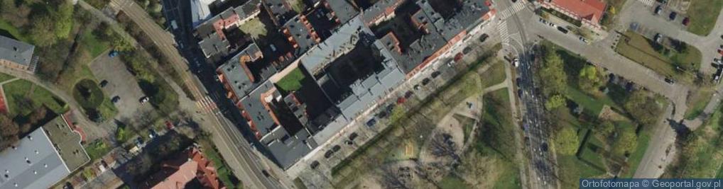 Zdjęcie satelitarne Za Groblą 3/4