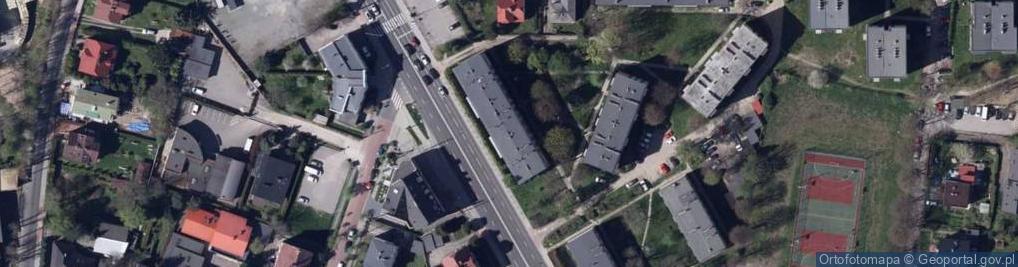 Zdjęcie satelitarne Żywiecka 121a