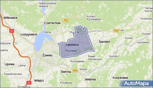 gmina Gilowice - powiat żywiecki na mapie Targeo