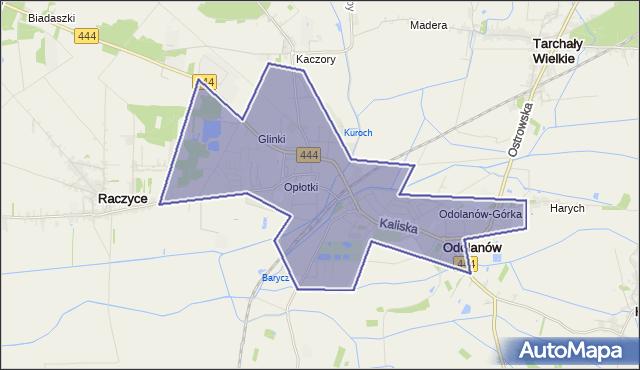 gmina Odolanów - powiat ostrowski na mapie Targeo