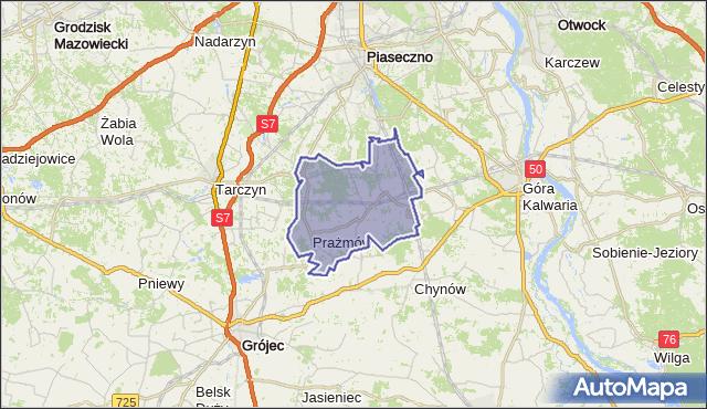 gmina Prażmów - powiat piaseczyński na mapie Targeo