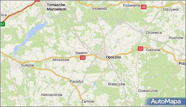 gmina Sławno - powiat opoczyński na mapie Targeo
