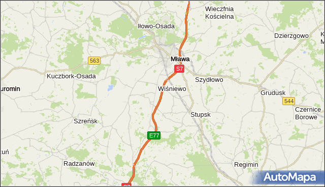gmina Szydłowo - powiat mławski na mapie Targeo