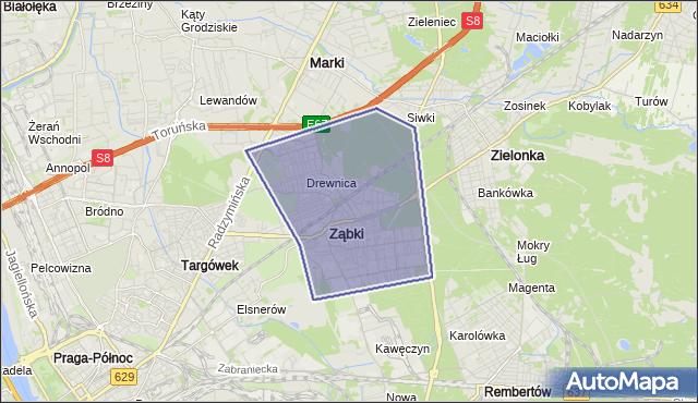 gmina Ząbki - powiat wołomiński na mapie Targeo