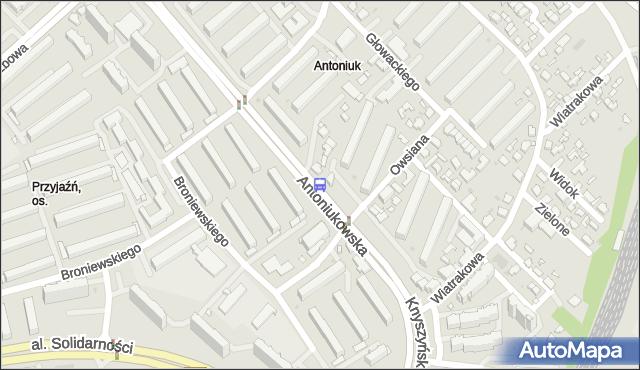 Przystanek Antoniukowska/Owsiana (013). BKM - Białystok (google) na mapie Targeo