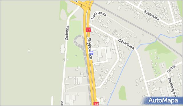 Przystanek Strykowska - Strykowska 33/43. MPKLodz - Łódź na mapie Targeo