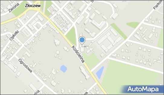 Mapa Polski Targeo, Centrum kultury MOK, Złoczew, Szeroka 17