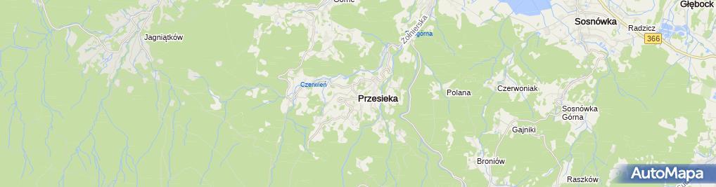 Zdjęcie satelitarne Przesieka
