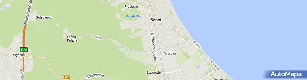 Zdjęcie satelitarne Foxana Sp. z o.o. Przedsiębiorstwo Handlowo-Usługowe